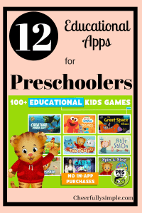 educational apps for preschoolers pin