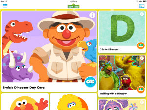 sesame street- educational apps for preschoolers