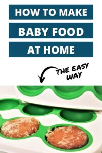 how to make baby food at home pinterest pin