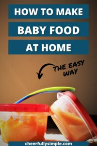 guide to making baby food pinterest pin