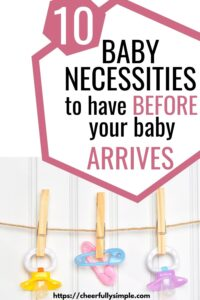 must-have baby gear pinterest pin