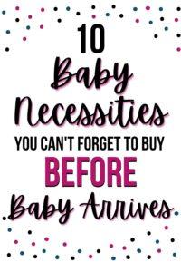 baby necessities pinterest pin