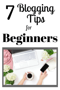 person sitting at computer working on a blog/ blogging tips for beginners