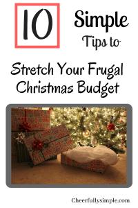 frugal christmas budget