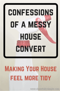 confessions of a messy house convert clean house vs tidy house/ cleaning spray bottle
