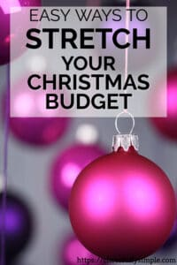 Christmas budget pinterest pin