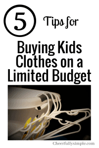 buying kids clothes on a limited budget
