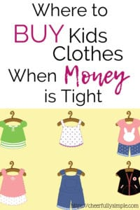 kids clothes on a budget pinterest pin