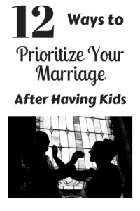 how to prioritize marriage after having kids pinterest pin