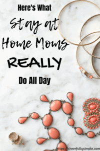 day in the life of a stay-at-home mom pinterest pin