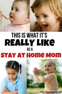 what it's really like as a stay at home mom