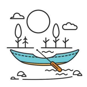 canoe outside on a summer day