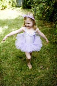 girl dancing in ballerina costume