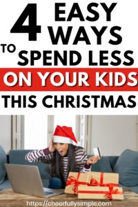 stressed out mom Christmas shopping for kids pinterest pin