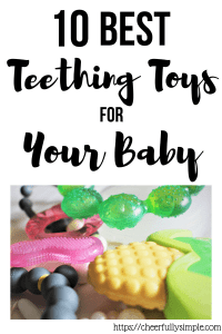 best teething toys for baby pin