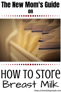 how to store breast milk