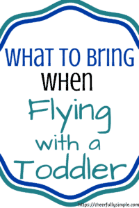 flying with a toddler pinterest pin