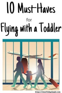 family in airport traveling with toddler