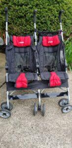 side by side double umbrella stroller