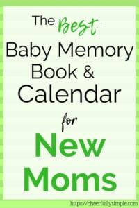 best baby memory book and calendar pinterest pin