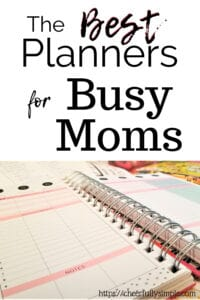 best planners for busy moms pinterest pin