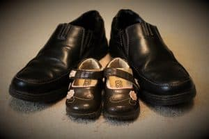fathers shoes and kids shoes