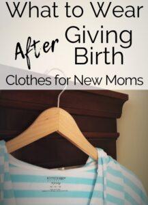 how to create a postpartum wardrobe pinterest pin