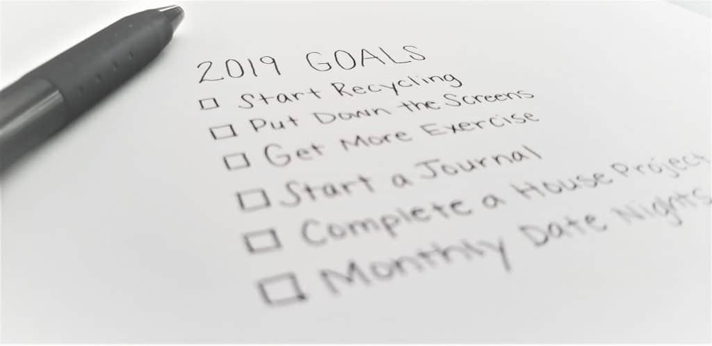 goal setting for moms 2019 list
