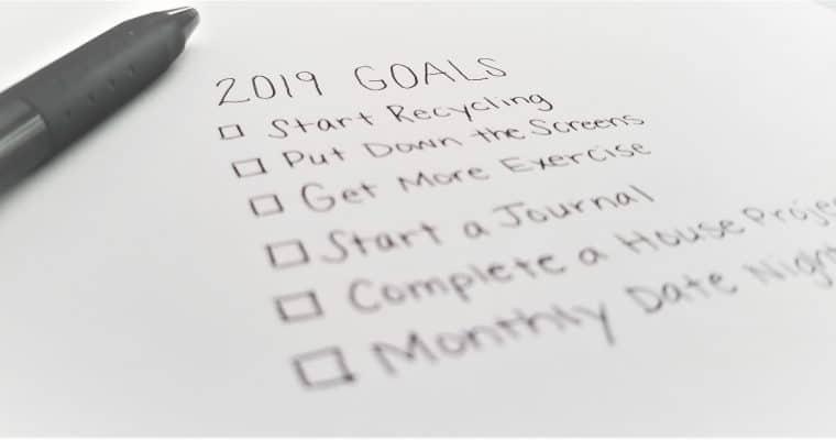 Goal Setting for Moms in 2019