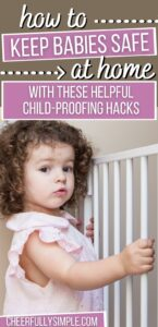 easy child-proofing hacks pinterest pin