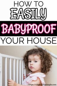 how to childproof your home pinterest pin