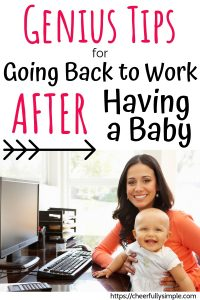 going back to work after a baby pinterest pin