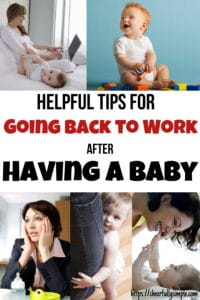 going back to work after baby 4