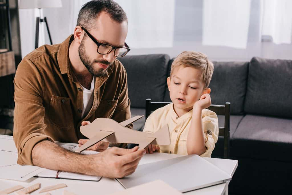 how to choose a school for your child- homeschooling father and son