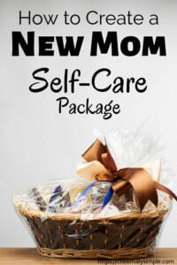 new mom care package pinterest pin