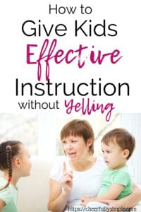 how to give kids effective instructions pinterest pin
