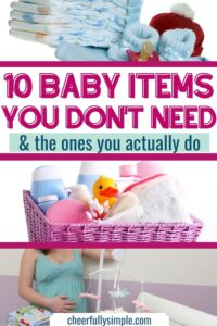 baby gifts you can live without pinterest pin