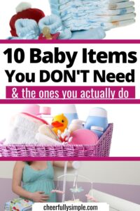 baby gifts you can live without and what you need pinterest pin