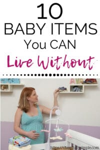 baby items you don't need pinterest pin
