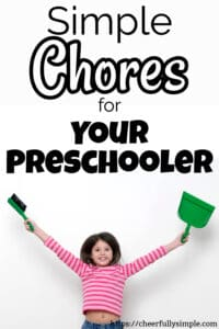 chore ideas for preschoolers 1