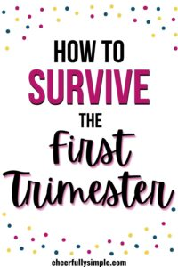 how to make it through the first trimester pinterest pin