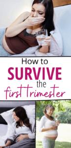 first trimester survival pinterest pin