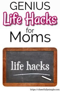 life hacks for moms pinterest pin