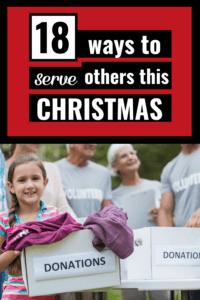 ways to give back at Christmas pinterest pin