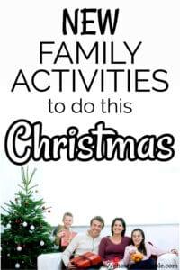 fun family things to do at Christmas pinterest pin