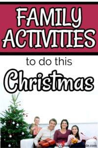 family Christmas activities pinterest pin