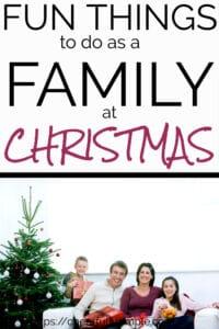 Christmas family activities pinterest pin