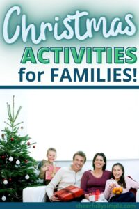 family things to do at Christmas pinterest pin