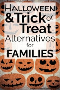 trick or treat alternatives pinterest pin with jackolanterns