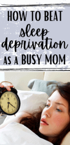 sleep deprivation as a new mom pinterest pin